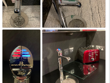 Reducing plastic by installing hydro taps for chilled and boiling water