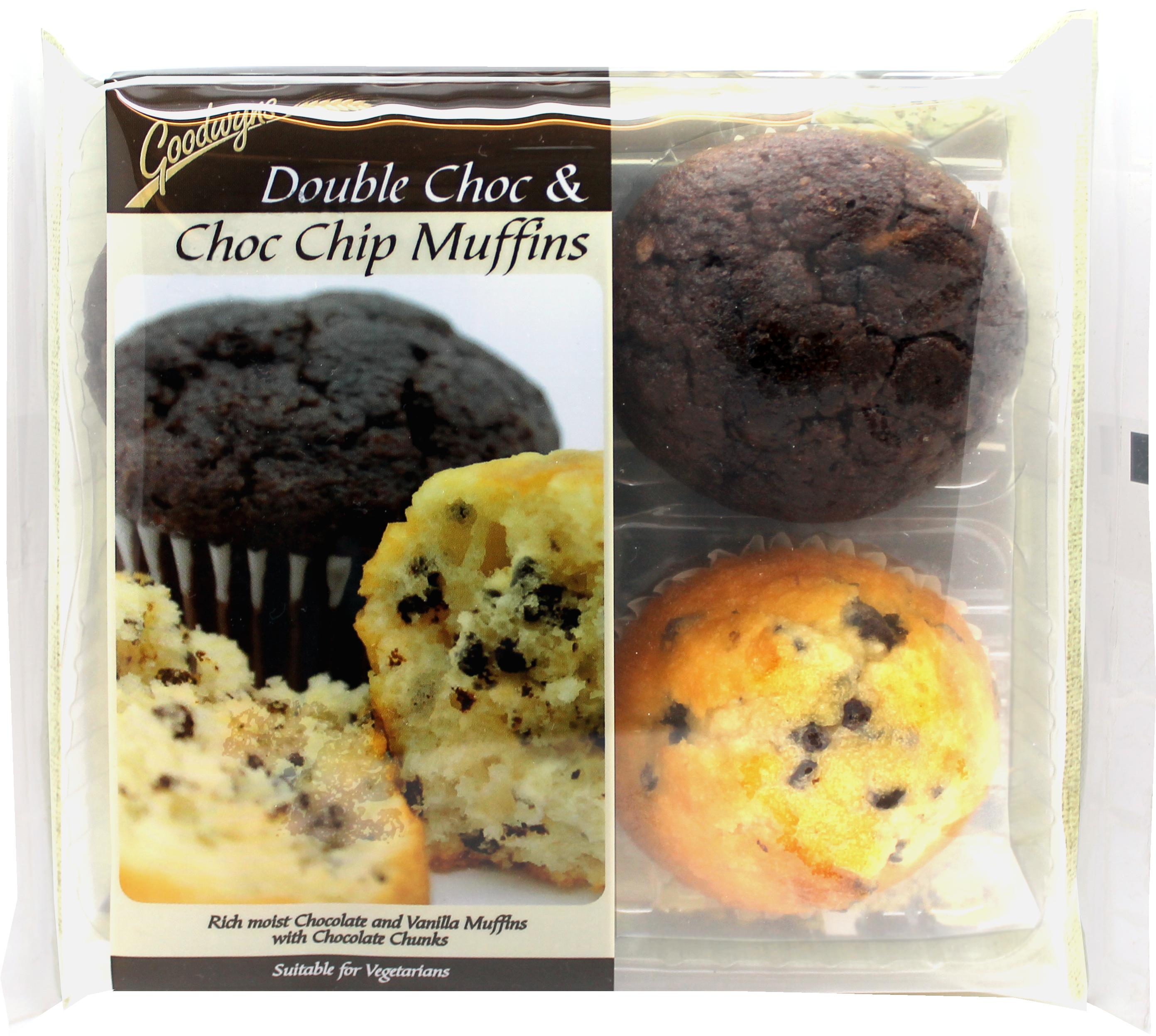 CK 280 Chocolate & Double Choc Muffin 4Pk