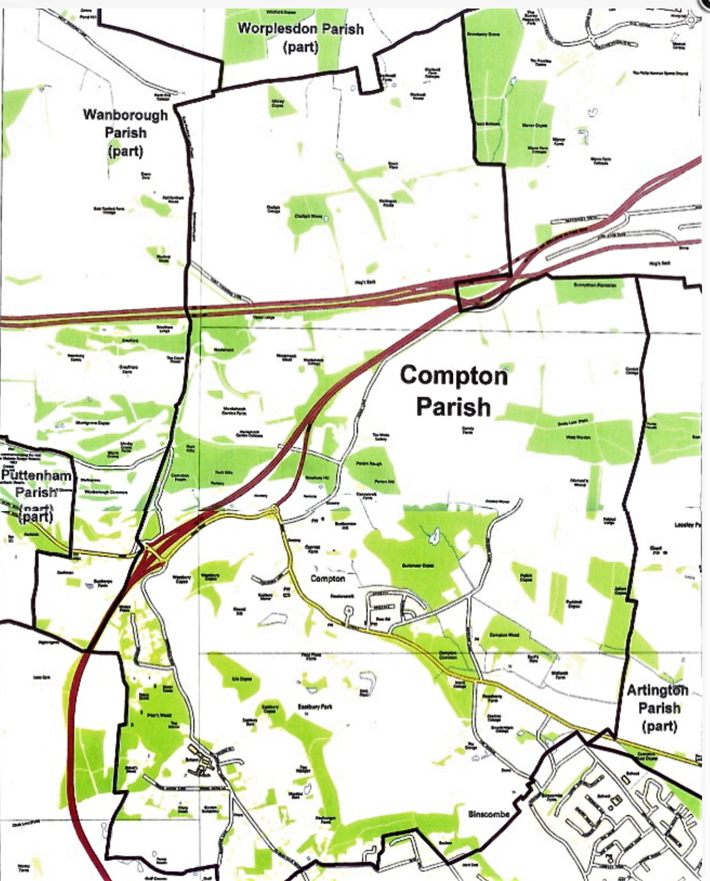 Home - Compton Parish Boundary Map