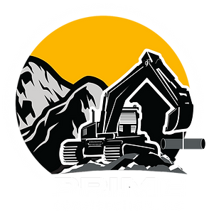 Prime Construction Logo_Mountain_White B