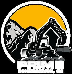 Prime Construction Logo_Mountain_White B