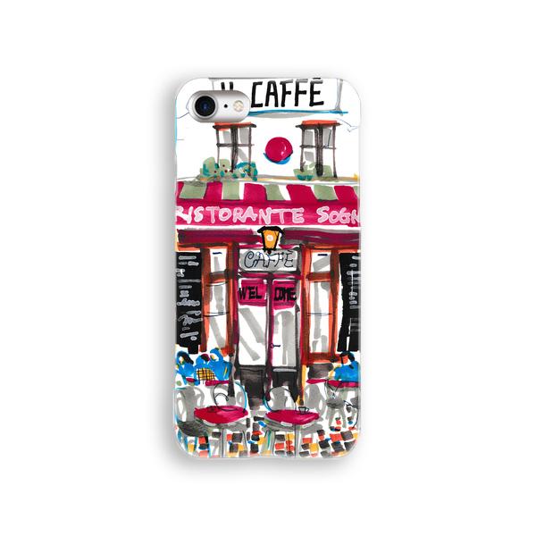 iPhoneケース『カラフルなカフェ』