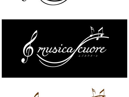 音楽教室のロゴデザイン。