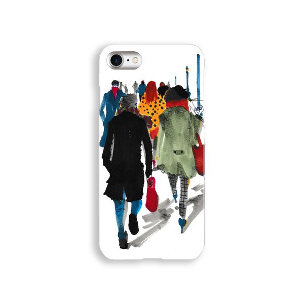 iPhoneケース『道ゆく人びと』