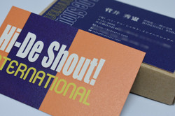 hide shout international様名刺デザイン③