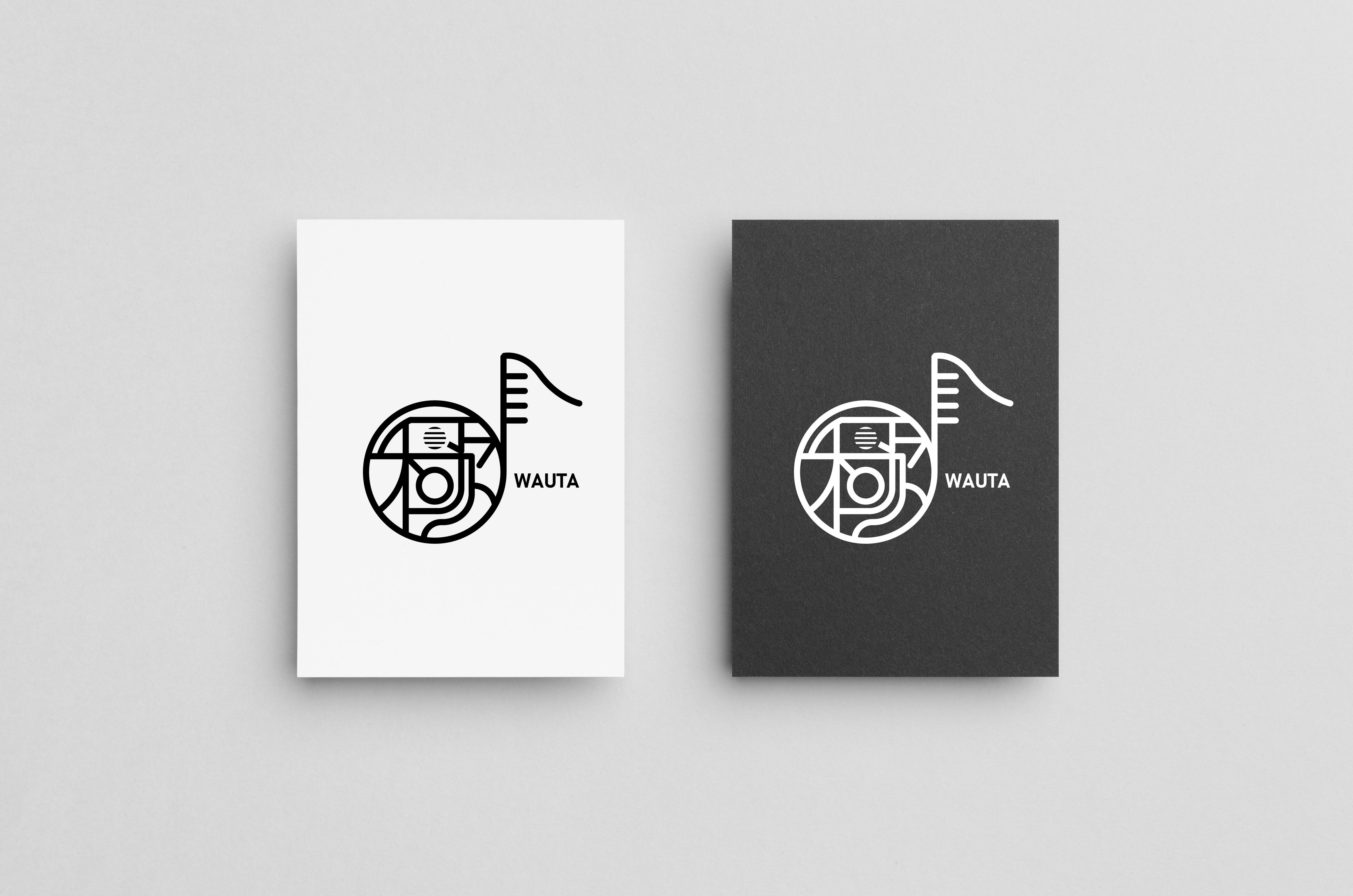 「WAUTA」ロゴデザイン