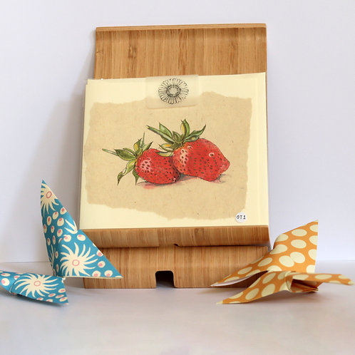 Strawberries Greetings Card