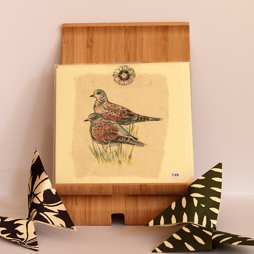 Two Turtle Doves Greetings Card