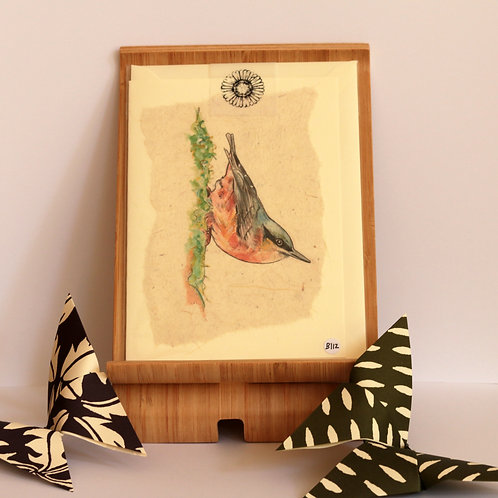Nuthatch Greetings Card