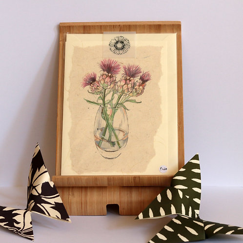 Thistle Vase Greetings Card