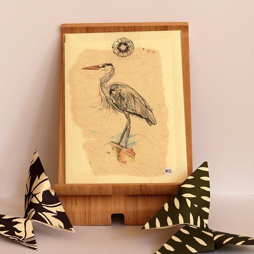 Grey Heron Greetings Card