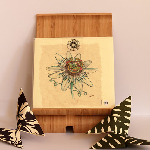 Passion Flower Greetings Card