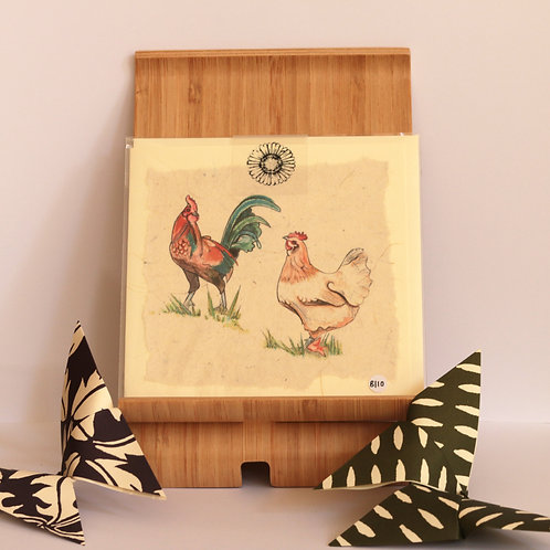 Double Chicken Greetings Card