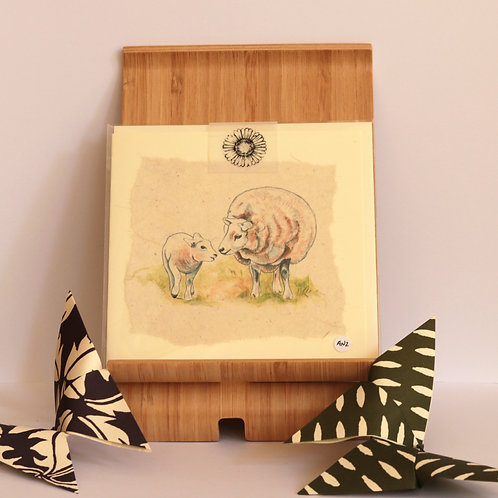 Sheep & Lamb Greetings Card
