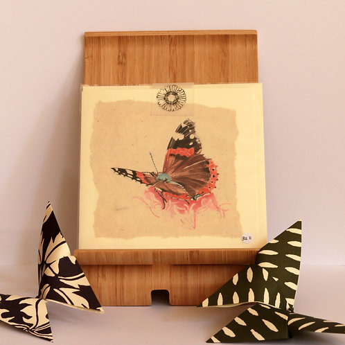Red Admiral Butterfly Greetings Card