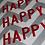 "Thumbnail: HAPPY HAPPY HAPPY Chevron 16"" Square Throw Pillow Cover"