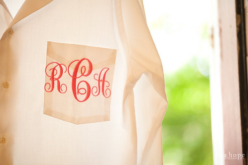 Monogrammed Men's Shirt for Bridesmaids