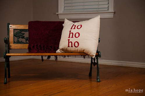 Ho Ho Ho Throw Pillow Cover