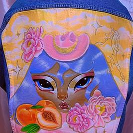 'Rodeo Princess' Hand Painted Denim Jacket