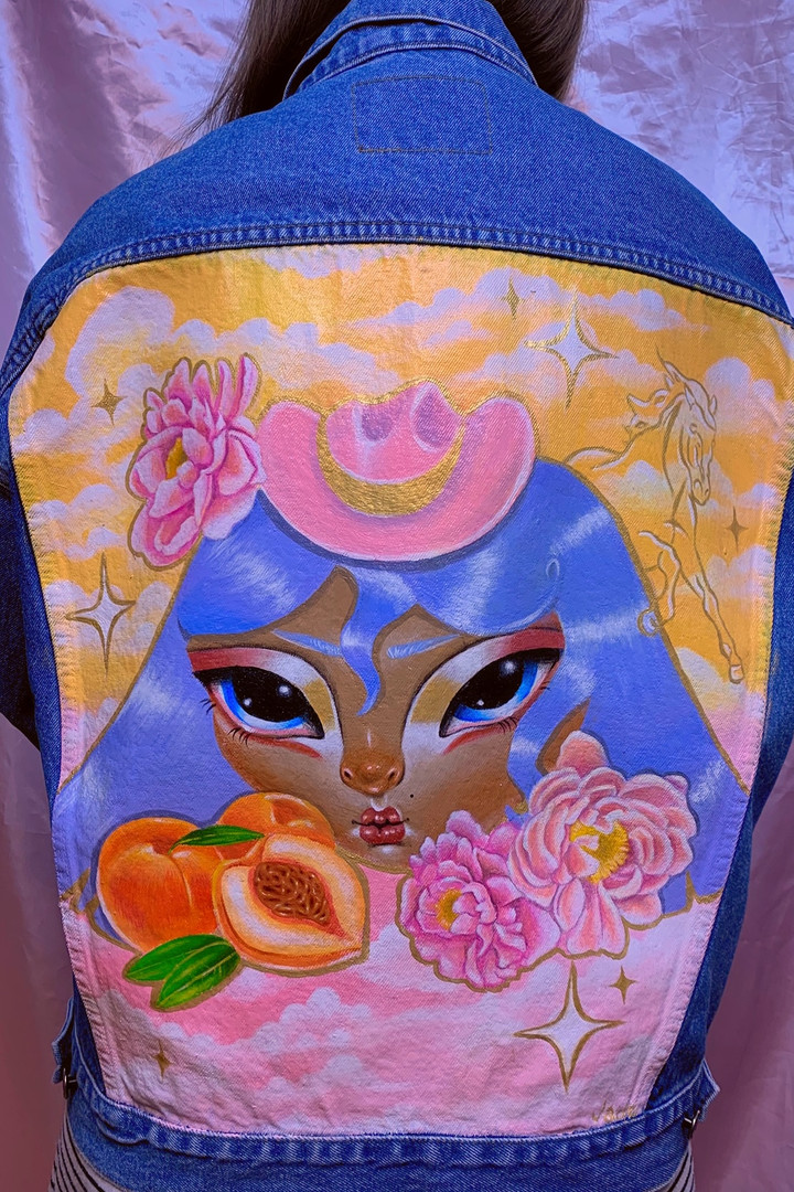 Rodeo Princess Hand Painted Jacket