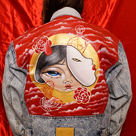 'Lovers Moon' Hand Painted Jacket