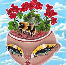 'Bloom' Acrylic painting