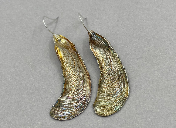 Maple Leaf Seed Pod Earrings