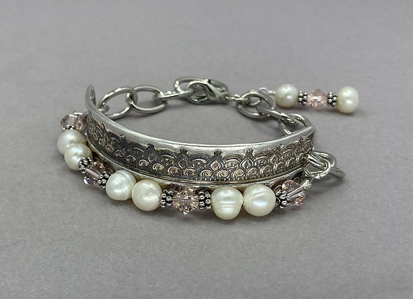 Pearls and Fine Silver Bracelet