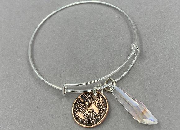 Antiqued Copper Coin Expandable Bracelet