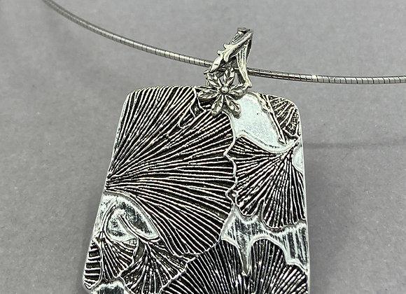 Gingko Leaves in Fine Silver