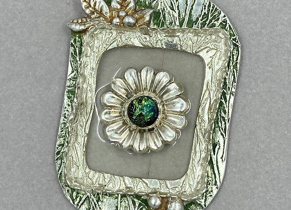 Floating Flower in Silver