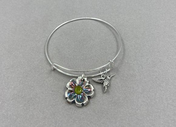 Floral with Hummingbird bracelet