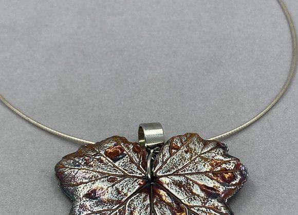 Geranium Leaf in Fine Silver