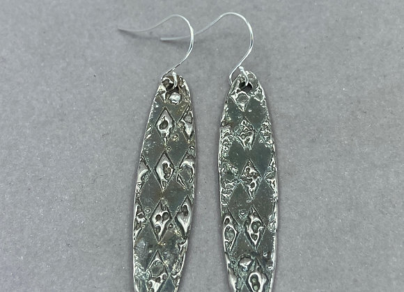 Textured Fine Silver Earrings
