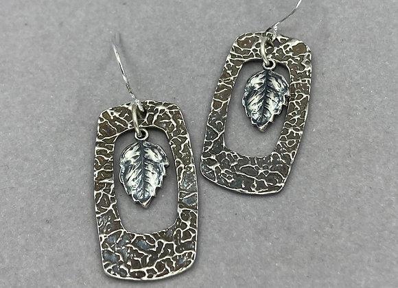 Fine Silver Window Earrings