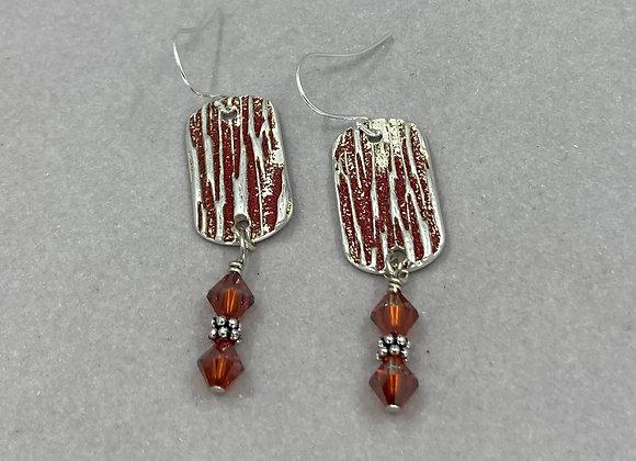 Scarlet Textured Earrings