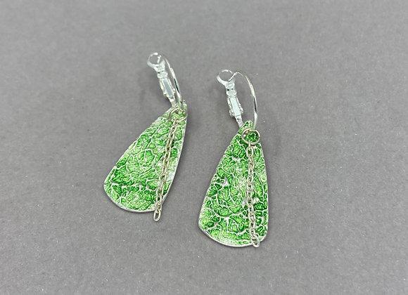 Fine Silver Textured Drop Earrings