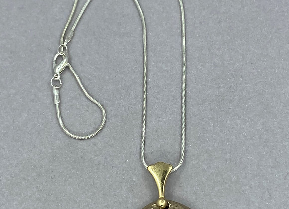 Golden Bronze with clear Topaz pendant