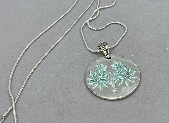 Tree of Life in Patina and Fine Silver