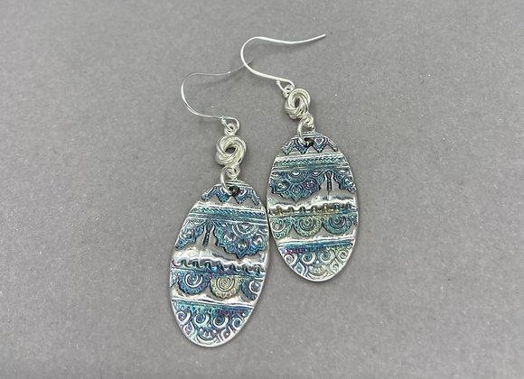 Mendi Pattern Fine Silver Earrings
