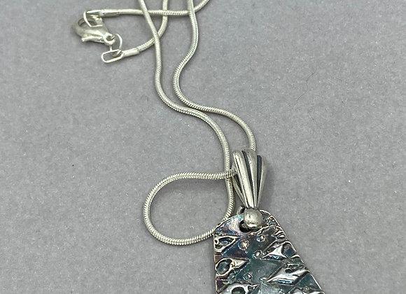 Fine Silver Textured pendant