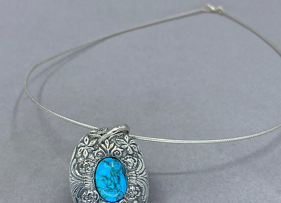 Turquoise in Fine Silver