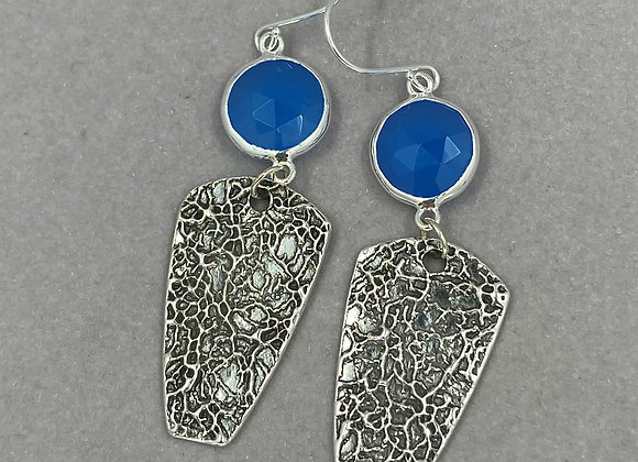 Chalcedony and Fine Silver Earrings