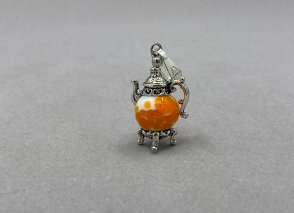 Handmade Glass Bead Teapot Pendant