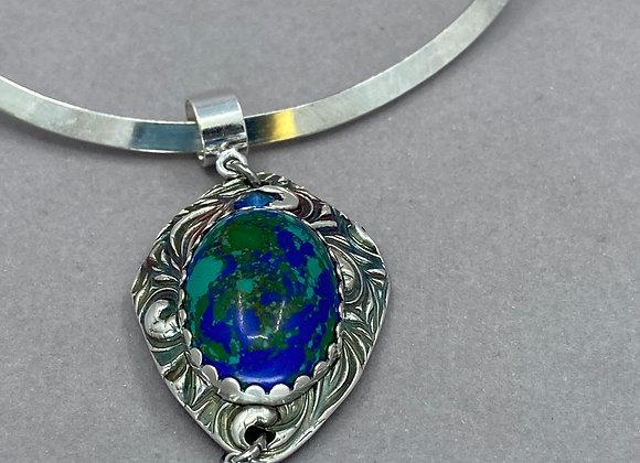 Azurite with Fine Silver