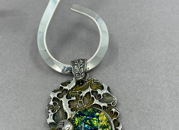 Green Glass with Fine Silver