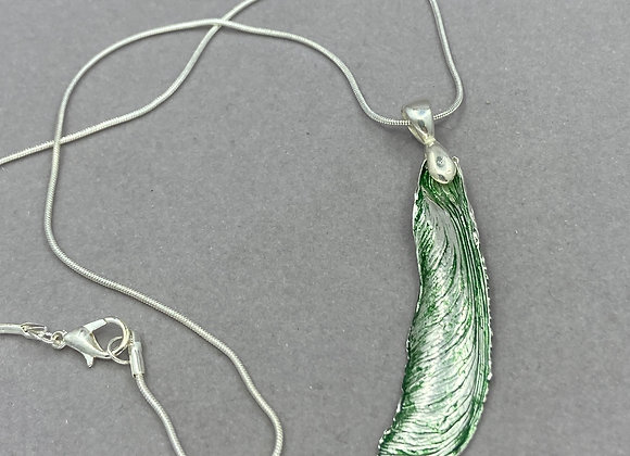 Maple Seed Pod with Green pendant