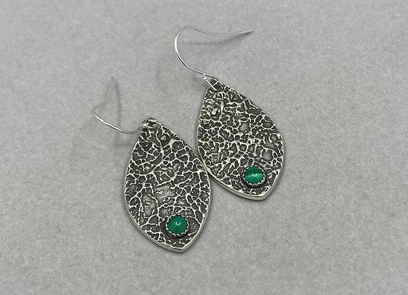 Malachite Fine Silver Earrings