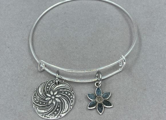 Floral Spiral Expandable Bracelet