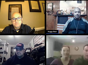 Casual Shooters Podcast group shot from their  interview with Randy and Lynn.